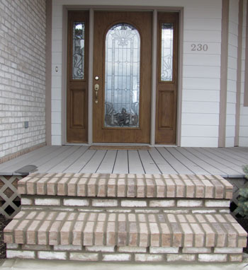 Brick Step Installation